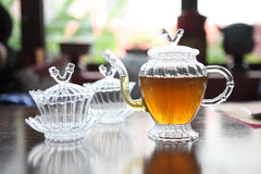 Teapot with cup Stock Photography