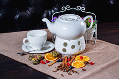 Teapot and cup of green tea Royalty Free Stock Photo