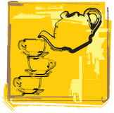 Teapot & Cup illustration Stock Images
