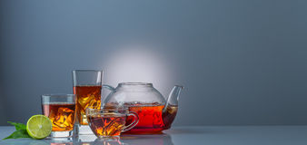 Teapot and cup of isetea Royalty Free Stock Images