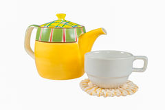 Teapot and Cup isolated Royalty Free Stock Photo