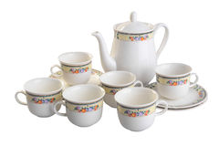 Teapot and cup set . teapot and cup set on a background Stock Photo