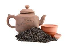 Teapot of  cup  and tea Stock Photos