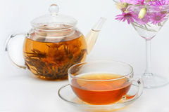 Teapot, a cup of tea Royalty Free Stock Image