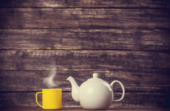 Teapot and cup of tea Royalty Free Stock Images