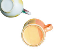 Teapot and cup of tea Stock Photography