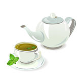 Teapot and cup with tea Royalty Free Stock Photos