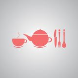 Teapot and cup of tea.Vector illustration Stock Images