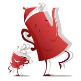 Teapot and cup. Vector illustration of Teapot and cup isolated royalty free illustration