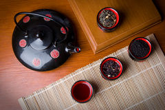 Teapot and cups Stock Photography