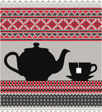 Teapot & Cups. Royalty Free Stock Photo