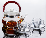 Teapot with cups Royalty Free Stock Photos