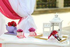 Wedding Peony Decoration Royalty Free Stock Images
