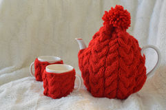 Cosy Teapot and cups Stock Image