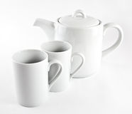 Teapot and cups Royalty Free Stock Image