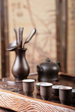 Teapot, cups and tea things Royalty Free Stock Photo