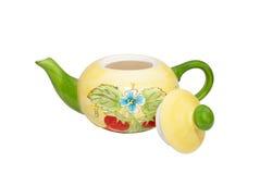 Teapot da porcelana da cor. imagens de stock