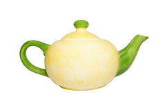 Teapot da porcelana da cor fotografia de stock