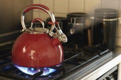 Teapot de assobio Fotografia de Stock