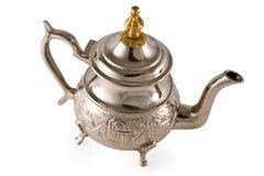 Teapot de prata antigo Fotografia de Stock Royalty Free