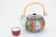 Teapot decorado da porcelana imagens de stock royalty free