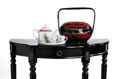 Teapot e caixas de China Imagens de Stock Royalty Free