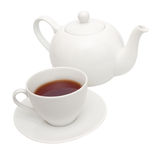 Teapot e copo Fotos de Stock