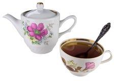 Teapot e copo Imagens de Stock Royalty Free