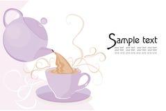 Teapot e copo Imagem de Stock Royalty Free