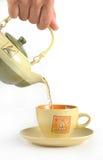 Teapot e copo Fotografia de Stock Royalty Free