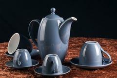 Teapot e copos Fotografia de Stock