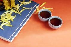 Teapot e copos tradicionais Foto de Stock Royalty Free