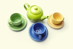 Teapot e teacups Foto de Stock Royalty Free