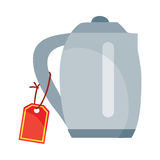 Teapot or Electric Kettle Appliances Isolated Stock Image