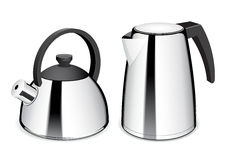 Teapot and electric kettle. Stock Images