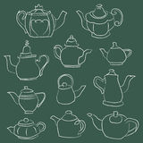 Teapot Elements Royalty Free Stock Photography