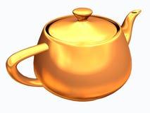 teapot för clippingbana stock illustrationer