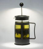 teapot för grön tea Fotografering för Bildbyråer