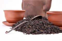 teapot för koppskedtea royaltyfri fotografi