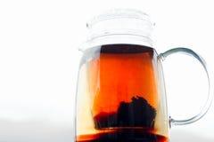 teapot för svart tea Royaltyfri Bild