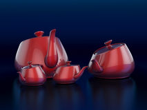 Teapot family Royalty Free Stock Photography