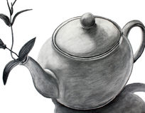 Teapot with a flower Royalty Free Stock Photo