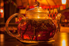 Teapot of fresh tea Royalty Free Stock Photos