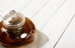 Teapot of fresh tea Royalty Free Stock Image
