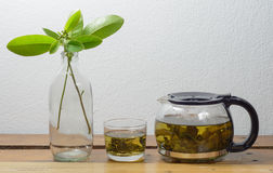 Teapot and glass Royalty Free Stock Photo