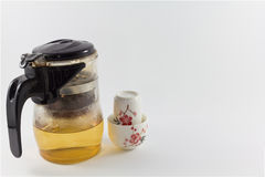 Teapot and glass set. Royalty Free Stock Photo