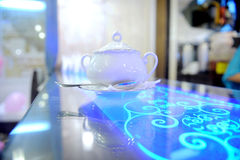 Teapot in Ultraviolet Stock Image