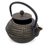 Teapot for green tea with an open lid Royalty Free Stock Image