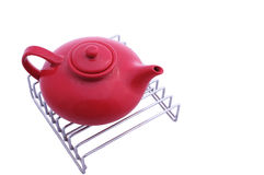 Teapot on the grill Stock Images