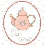 Teapot hand drawn shabby chic style. Vector Stock Photos